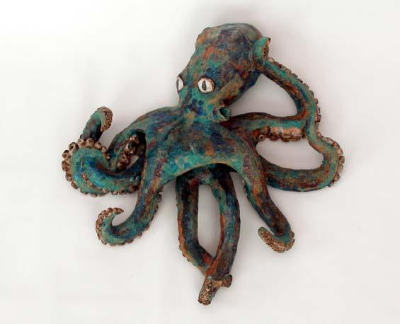 Blue Octopus Doorknocker